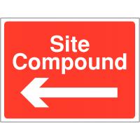 Site compound left direction signs