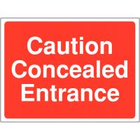 Versatile 'Concealed Entrance' Site Warning Sign