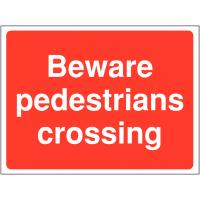 Durable 'Pedestrians Crossing' Construction Site Sign