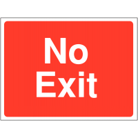 Bright no exit sign for construction sites