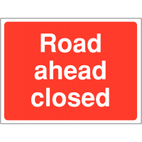 'Road Ahead Closed' Construction Site Sign in Durable Materials