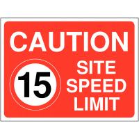 Durable Construction Site 15 mph Speed Limit Sign