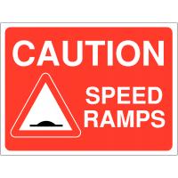 Speed Ramps Warning Signs