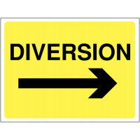Temporary 'Diversion Arrow Right' Construction Sign