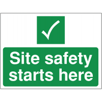 Site safety temporary construction sign