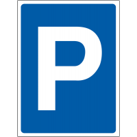 Temporary 'Parking' Construction Sign