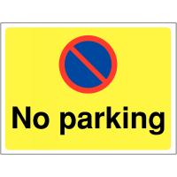 Versatile Self-Adhesive 'No Parking' Site Sign