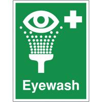 Eyewash location sign