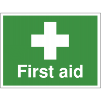 Highly Visible First Aid Outdoor Site Sign