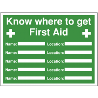 Multi-message first aid construction sign