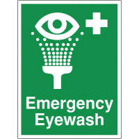 Emergency Eyewash Point Site Sign in Durable Materials
