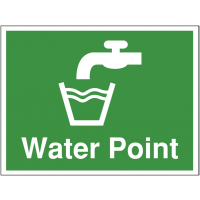 Water point' construction site sign in durable materials