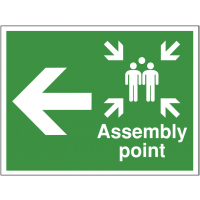 Outdoor Left Arrow Assembly Point Direction Sign