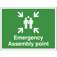 'Emergency Assembly Point' Outdoor Site Sign