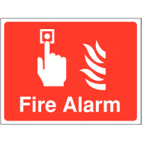 Durable 'Fire Alarm' Outdoor Site Sign
