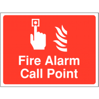 'Fire Alarm Call Point' Outdoor Site Sign