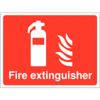 High gloss 'Fire extinguisher' construction sign
