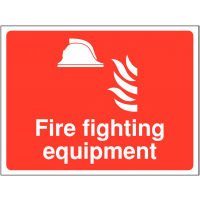 Durable 'Fire Fighting Equipment' Outdoor Site Sign