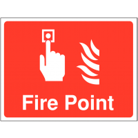 Temporary 'Fire Point' Construction Sign