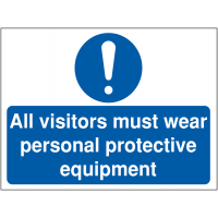 Informative PPE Sign for Construction Sites