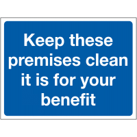 Temporary 'Keep These Premises Clean' Construction Sign