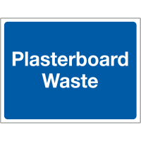'Plasterboard Waste' Construction Site Sign in Durable Materials