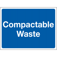 Colour-Coded 'Compactable Waste' Site Sign
