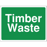 Colour-coded 'timber waste' construction site sign