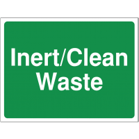 'Inert/Clean Waste' Durable Colour-Coded Site Sign