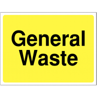 Colour-Coded 'General Waste' Site Sign