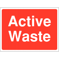 Hard-Wearing 'Active Waste' Construction Site Sign