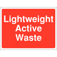 Colour-Coded 'Lightweight Active Waste' Site Sign