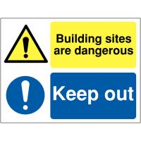 Dangerous building site multi-message signs