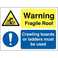 Multi-message 'Warning Fragile Roof' Sign