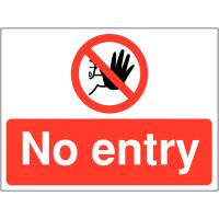 Versatile 'No entry' construction sign