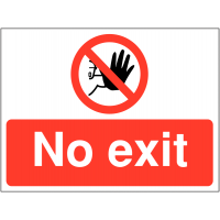 Temporary 'No Exit Symbol' Construction Sign
