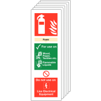 Six Pack Of Foam Fire Extinguisher Locator Signs
