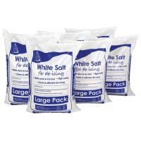 High Purity White De-Icing Salt Special Offer – 6 for the Price of 4, Free Snow Pusher