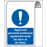 Roll-top Sign - Approved PPE Must Be Worn