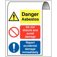 Multi-Message Aluminium Roll-Top Asbestos Sign