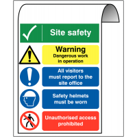 Multi-Message Aluminium Site Safety Roll-top Sign