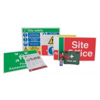 Medium construction site signs and accessories starter pack