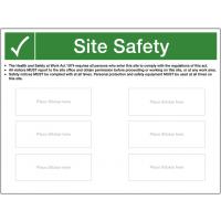 Custom Site Safety Sign - Plain Backboard