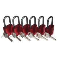 Robust Colour-Coded Six Pack of Aluminium Padlocks