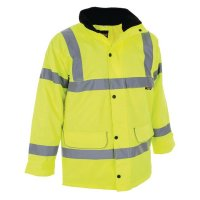 Waterproof high-vis reflective jacket
