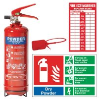 Installation kit for ABC powder fire extinguisher