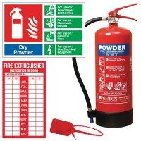 Installation kit for ABC powder fire extinguisher