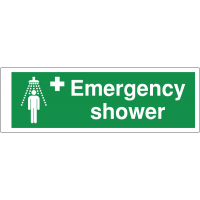 Lightweight Emergency Shower Double-Sided Corridor Sign