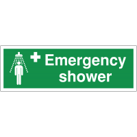 Durable Plastic Emergency Shower Double-Sided Hanging Sign