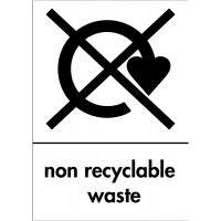 Double-Sided Rigid Plastic 'Non-Recyclable Waste' Sign
